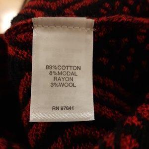 J. Jill Sweaters - J. Jill Red and Black Crewneck Sweater Size 1X.